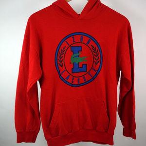 Rare Vintage Lacoste Red Big Logo Crest Sweatshirt